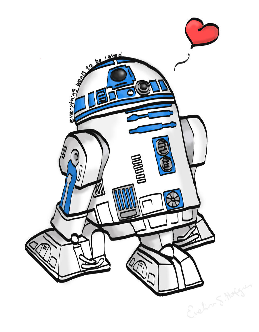R2-D2 by MissSandstrom  R2d2 Drawing