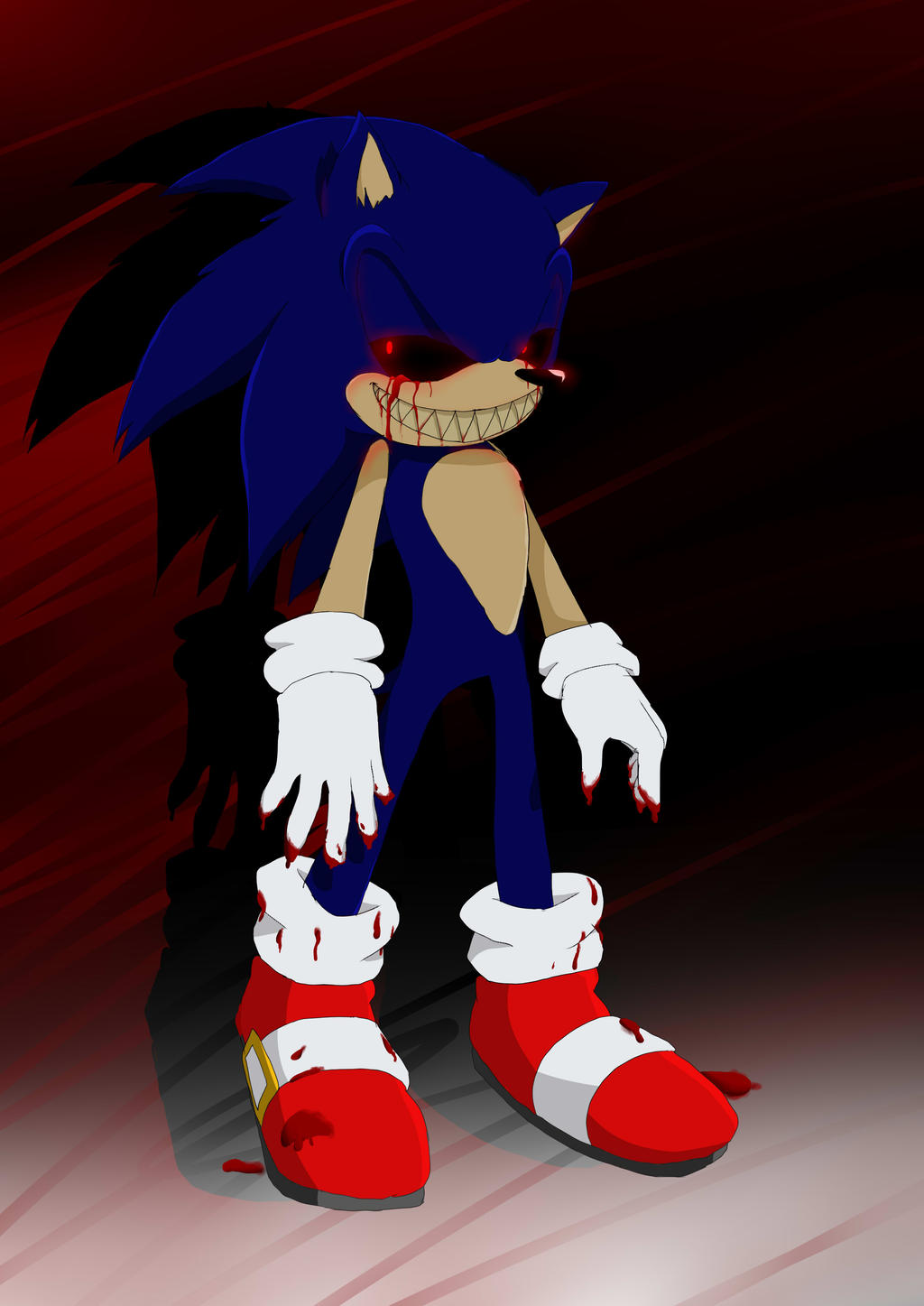 Sonic exe game over screen sonic exe by kirablue32343