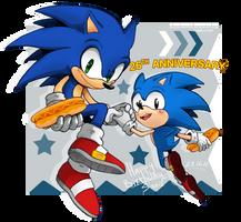 .:FANART:. 26th Anniversary! by BlueBlurApple