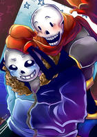 Sans And Papyrus by Label-your-Best
