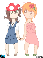 Adoptable Pair 1: Mushroom and Flower by UnderworldDJ