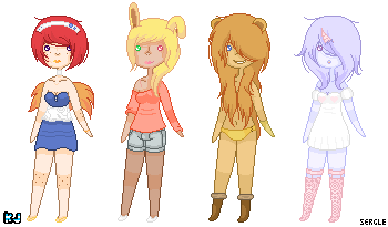 Adoptables 8: Anthro Girls by UnderworldDJ