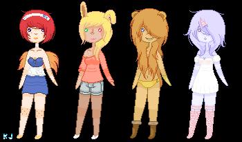 Adoptables 8: Anthro Girls by UnderworldDJ