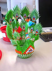 origami peacock by awka6
