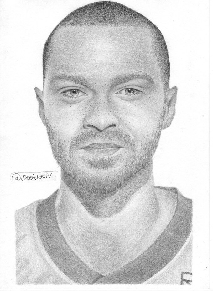 Drawing Lines Grey S Anatomy : Jesse williams drawing grey s anatomy by jadeallentv on