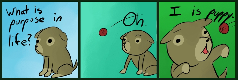 Existential Puppy by Toderico