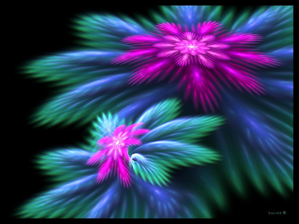 3d purple flowers by yuline on deviantart for Purple wallpaper 3d