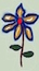 FlowerBlueYellowRed3 by marshwood
