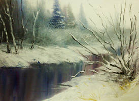 Winter river by lollypop3000
