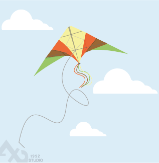 kite vector by axd1992
