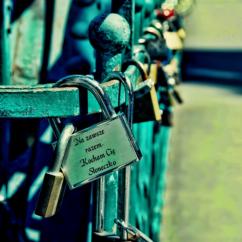 Love padlocks by BlueColoursOfNature