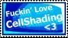 Love CellShading - Stamp by GlowingEyeFiasco