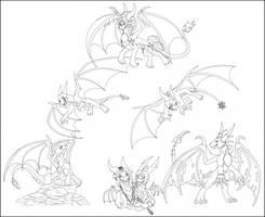 .:Pyramid of Dragons:. by GlowingEyeFiasco