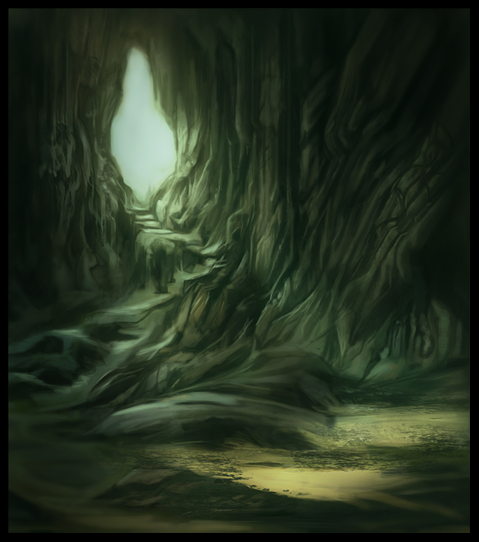 Anime Scenery Forest Cave Entrance by x-ste...