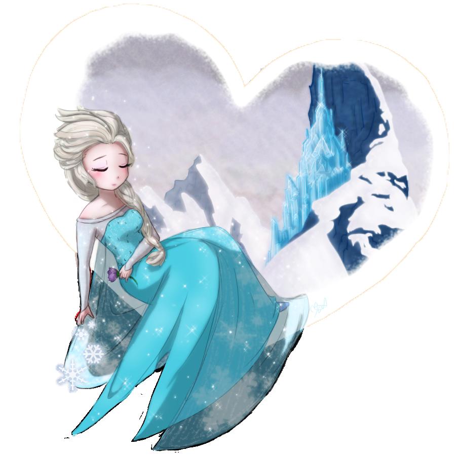 Frozen- Elsa - Frozen Heart by TropicalSnowflake