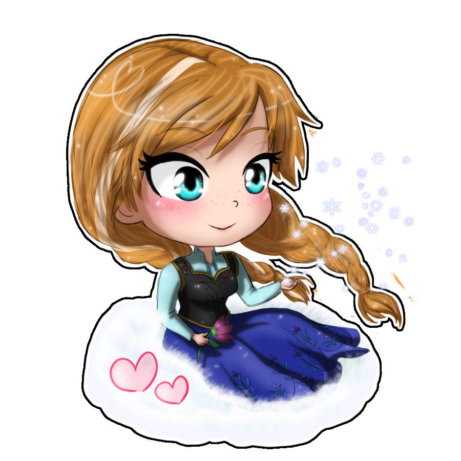 Frozen- Anna chibi by TropicalSnowflake on DeviantArt