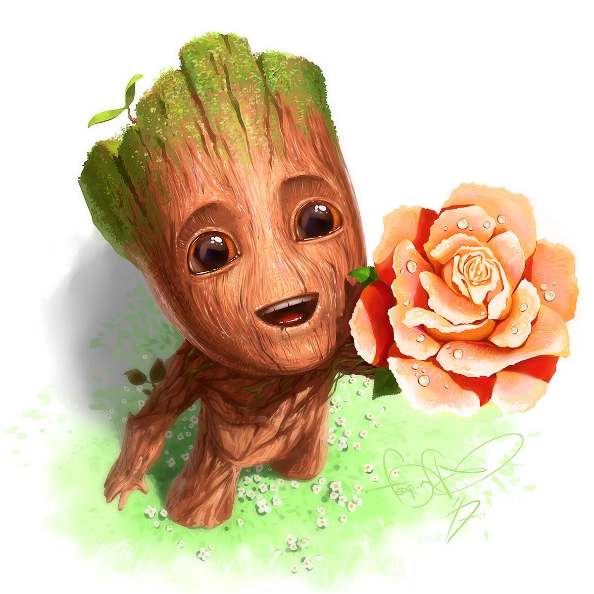 Little Groot (Guardians of the Galaxy fan art) by fear-sAs