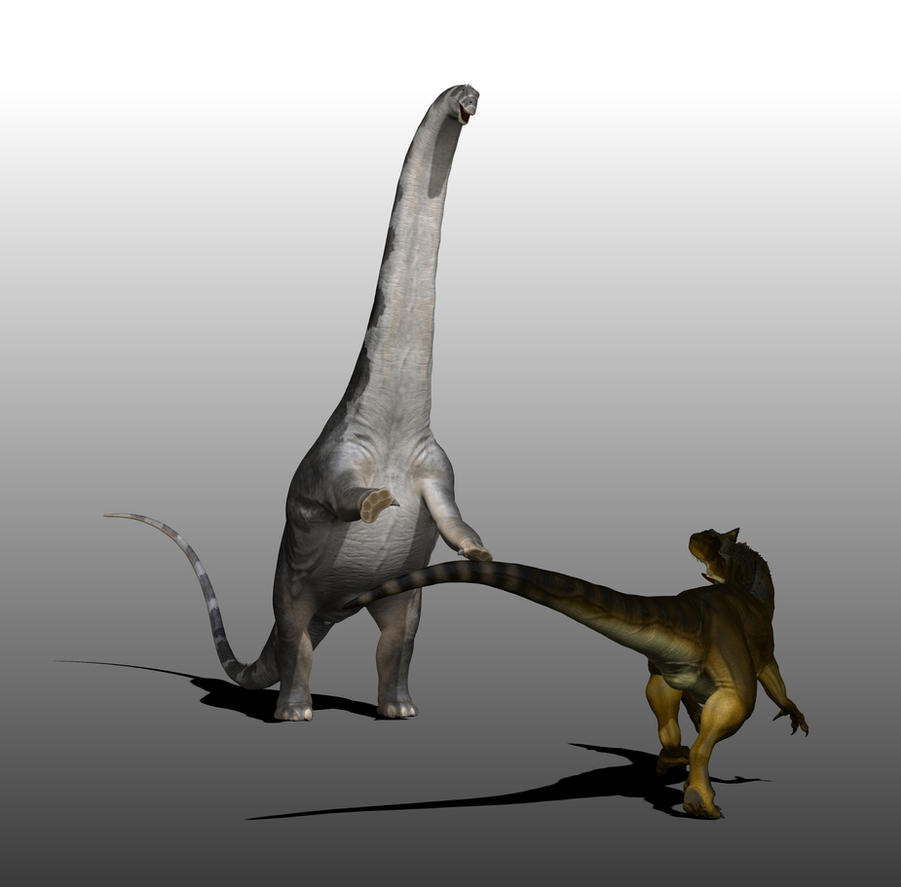 Allosaurus vs Apatosaurus 2 by Manuelsaurus