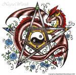 Pentagram with dragon