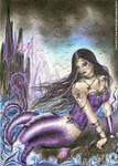 Gothic mermaid by NegraWaridi