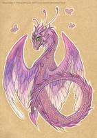 Purple dragon by NegraWaridi