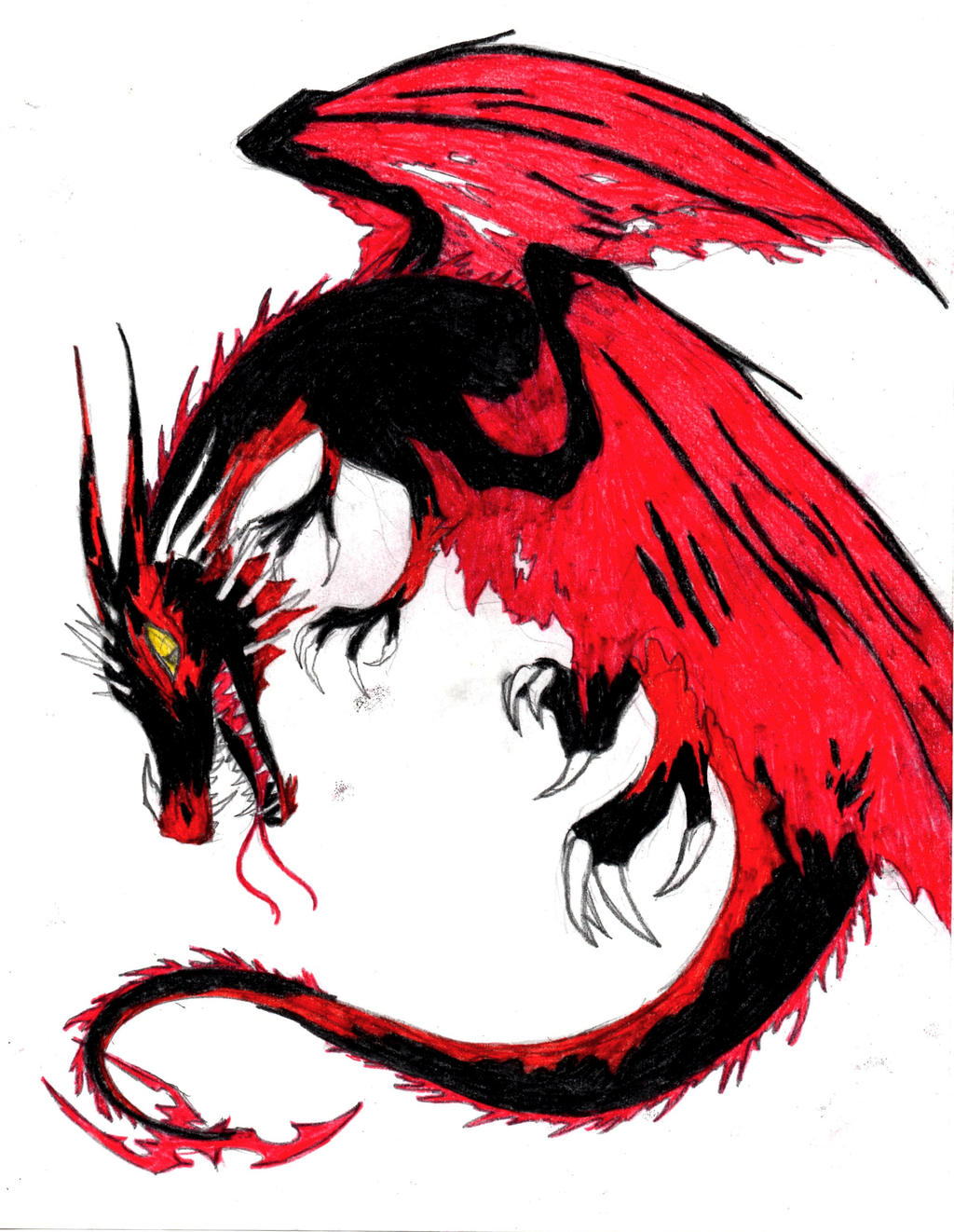 Red and Black Dragon Doodle by Dragoonzia on DeviantArt