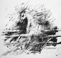 running horse by Ladowska