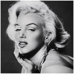 Pencil portrait of Marilyn Monroe by Ladowska
