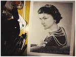 Coco Chanel study in pencil