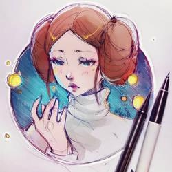 Princess Leia by Ladowska