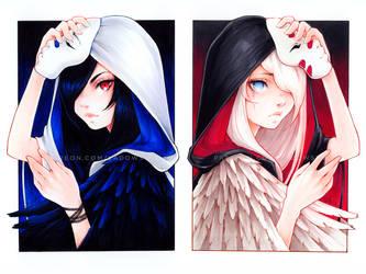 Ravens by Ladowska