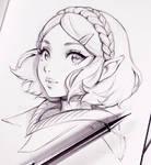 Zelda Breathe of the Wild 2 by Ladowska