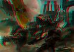 Battle image 3D Rouge Bleu Cyan