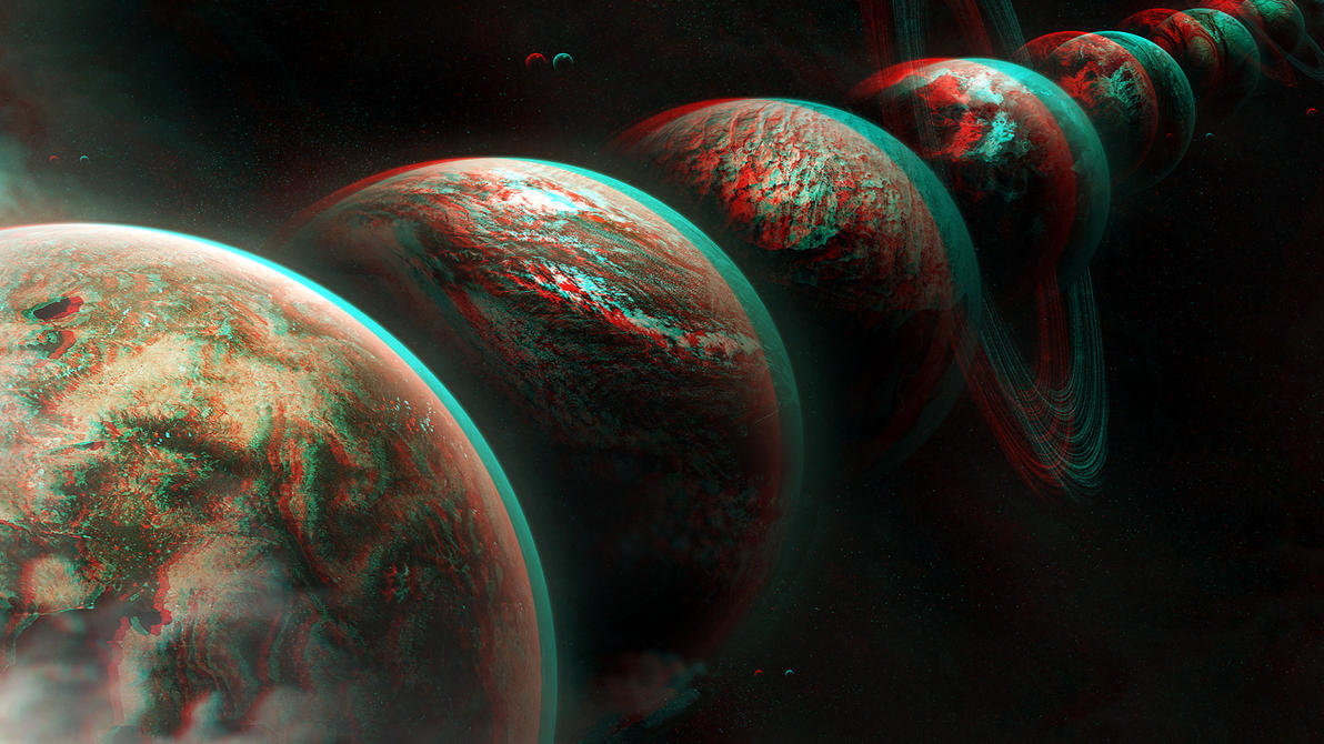 The Planets 3D conversion Red Cyan by Fan2Relief3D on ...