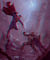 Batman vs Superman Anaglyph 3D by Fan2Relief3D