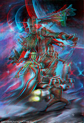 Guardians of the galaxy Conversion 3D by Fan2Relief3D