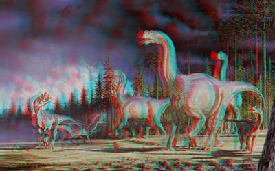 Dinosaurs  Conversion 3D by Fan2Relief3D