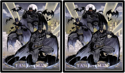 Batman Cross View 3D by Fan2Relief3D
