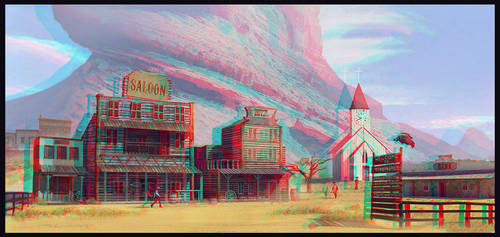 Old West Town Conversion 3D