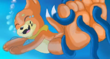 Buizel Tickled underwater