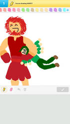Waver, Rider, and the Armpit (Draw Something) by thundercat287