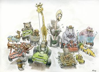 Animal Race by CaptnDave