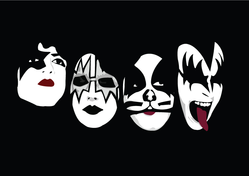 the gallery for gt kiss band logo font