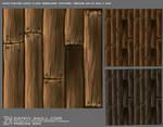 Handpainted Textureshee wood floor