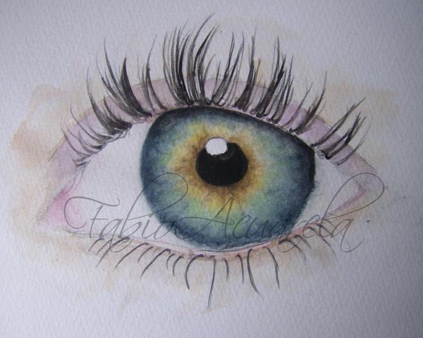 watercolor eye by FabioAcuarela on DeviantArt