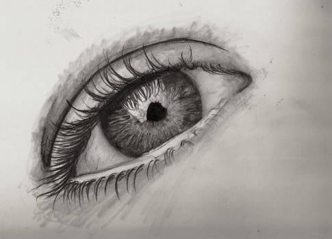 eye macro drawing