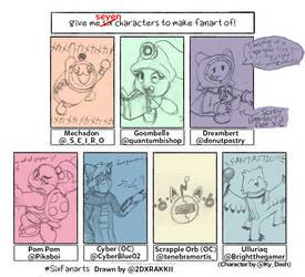 SDADoodlezIIDX 4th style - SixFanarts sketches