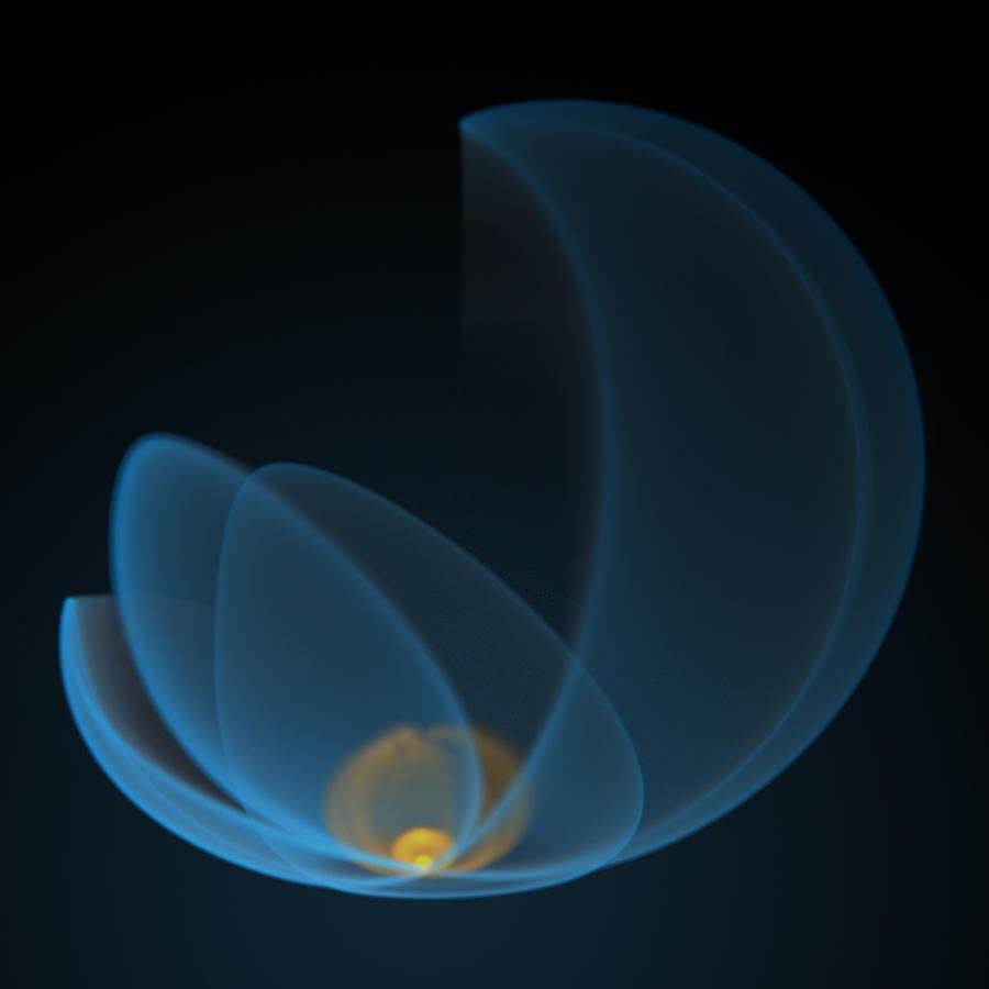 Flaming Blue Flower