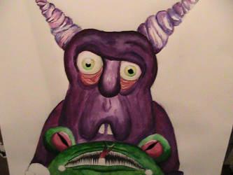 violet troll by skycrap