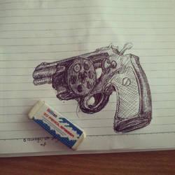 handgun by skycrap